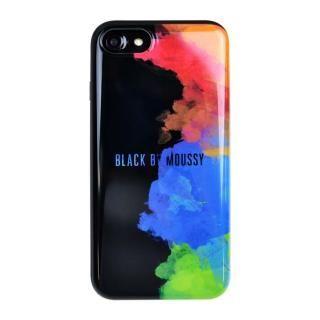 BLACK BY MOUSSY カード収納型背面ケース スプレーブラック iPhone 8/7
