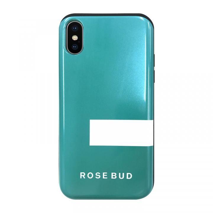 【iPhone XS/Xケース】ROSEBUD シェルケース LINEエメラルド iPhone XS/X_0