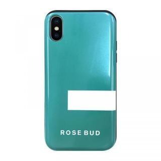 【iPhone XS/Xケース】ROSEBUD シェルケース LINEエメラルド iPhone XS/X