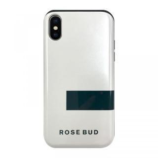 iPhone XS/X ケース ROSEBUD シェルケース LINEホワイト iPhone XS/X