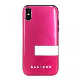 【iPhone XSケース】ROSEBUD シェルケース LINEピンク iPhone XS/X