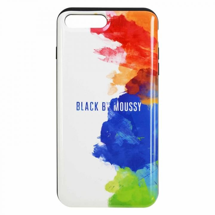 iPhone8 Plus/7 Plus ケース BLACK BY MOUSSY スプレーホワイト iPhone 8 Plus/7 Plus_0