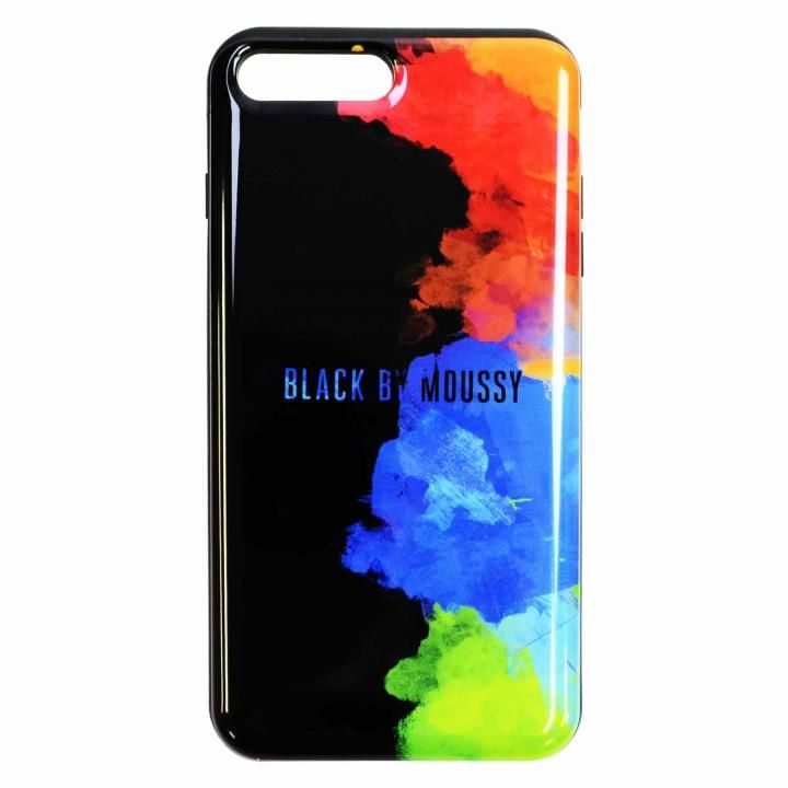 iPhone8 Plus/7 Plus ケース BLACK BY MOUSSY スプレーブラック iPhone 8 Plus/7 Plus_0