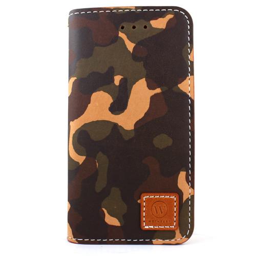 【iPhone SE/5s/5ケース】牛革手帳型ケース DESIGNSKIN PREMIUM カモフラ iPhone SE/5s/5_0