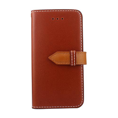 【iPhone SE/5s/5ケース】牛革手帳型ケース DESIGNSKIN SNAP レッドブラウン iPhone SE/5s/5_0