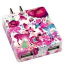 カヨ ホラグチ デザイン USB-AC アダプター pink-deer ピンク
