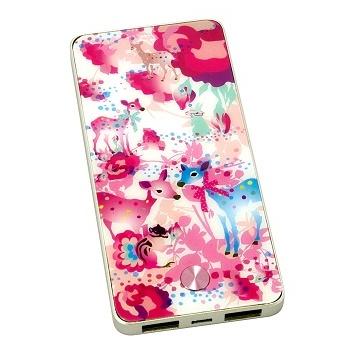[3600mA]カヨ ホラグチ デザイン モバイルバッテリー pink-deer