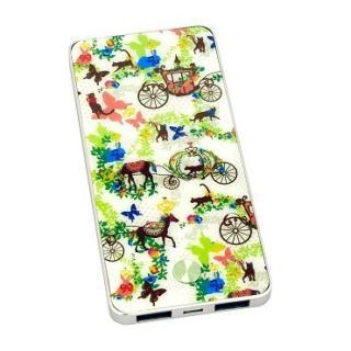 [3600mA]カヨ ホラグチ デザイン モバイルバッテリー sweets グリーン