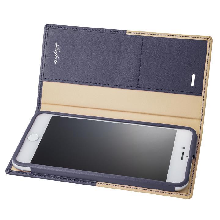 GRAMAS フルレザー手帳型ケース TRICO ネイビー iPhone 7 Plus