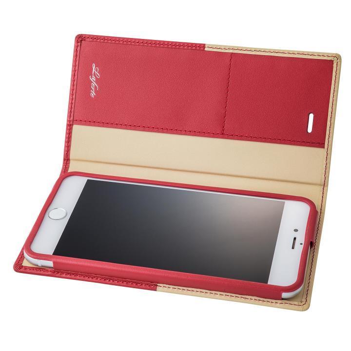 【iPhone8 Plus/7 Plusケース】GRAMAS フルレザー手帳型ケース TRICO レッド iPhone 8 Plus/7 Plus_0