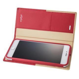 GRAMAS フルレザー手帳型ケース TRICO レッド iPhone 7 Plus