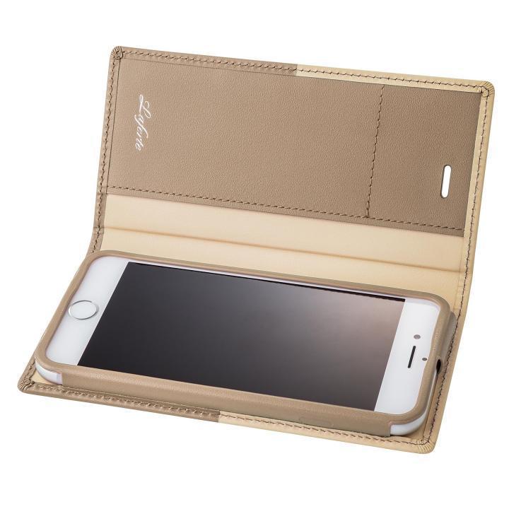 GRAMAS フルレザー手帳型ケース TRICO ベージュ iPhone 7