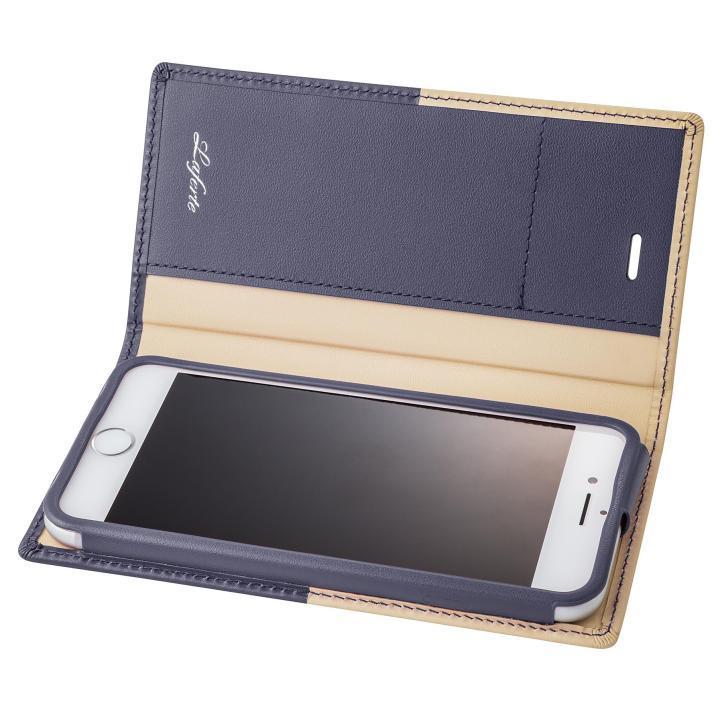 GRAMAS フルレザー手帳型ケース TRICO ネイビー iPhone 7
