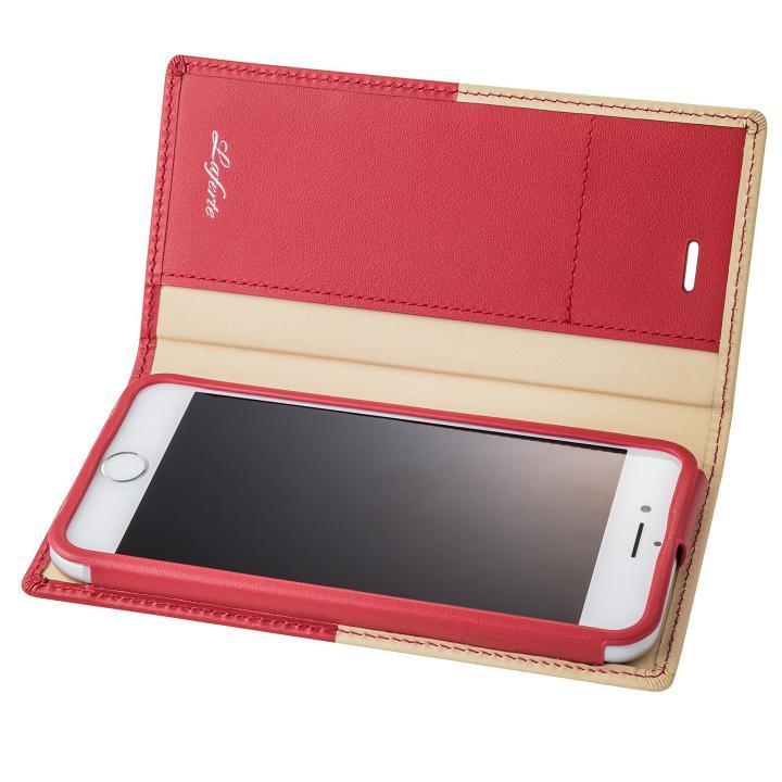 iPhone8/7 ケース GRAMAS フルレザー手帳型ケース TRICO レッド iPhone 8/7_0