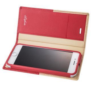 GRAMAS フルレザー手帳型ケース TRICO レッド iPhone 7