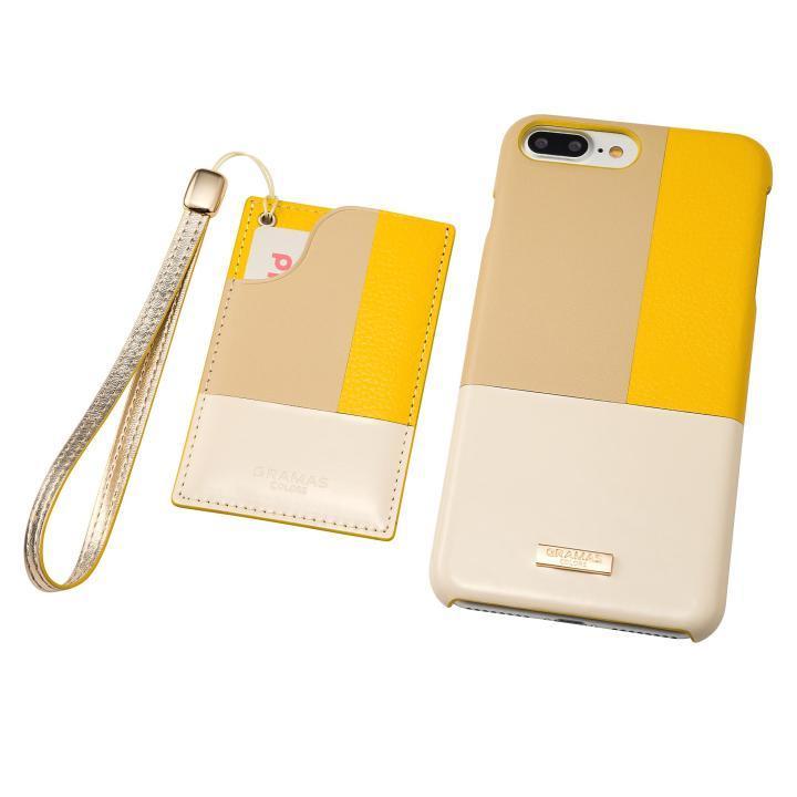 GRAMAS COLORS レザーケース Nudy イエロー iPhone 8 Plus/7 Plus