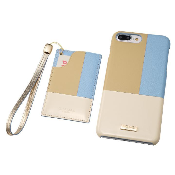 GRAMAS COLORS レザーケース Nudy ブルー iPhone 8 Plus/7 Plus