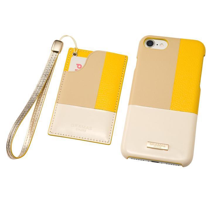 GRAMAS COLORS レザーケース Nudy イエロー iPhone 7