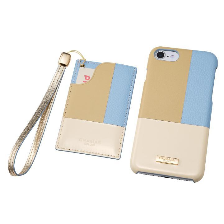 iPhone8/7 ケース GRAMAS COLORS レザーケース Nudy ブルー iPhone SE 第2世代/8/7_0