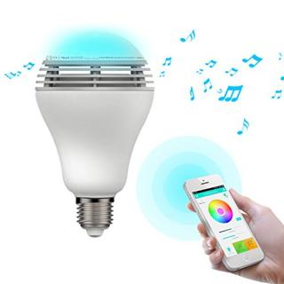 スマートフォン対応LED電球 スピーカー内蔵 PLAY BULB COLOR