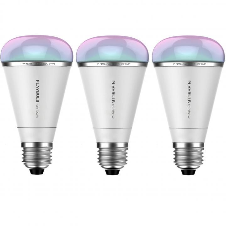 スマートフォン対応LED電球 PLAY BULB RAINBOW 3個セット_0