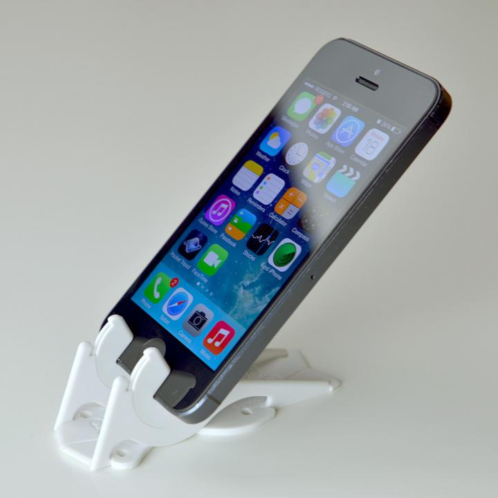 ピタゴラスタンド カード型の薄いiPhoneスタンド Pocket Tripod