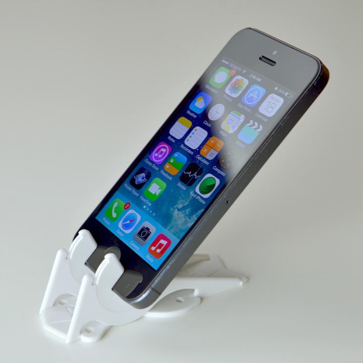 カード型の薄いiPhoneスタンド ピタゴラスタンド Pocket Tripod ホワイト_0