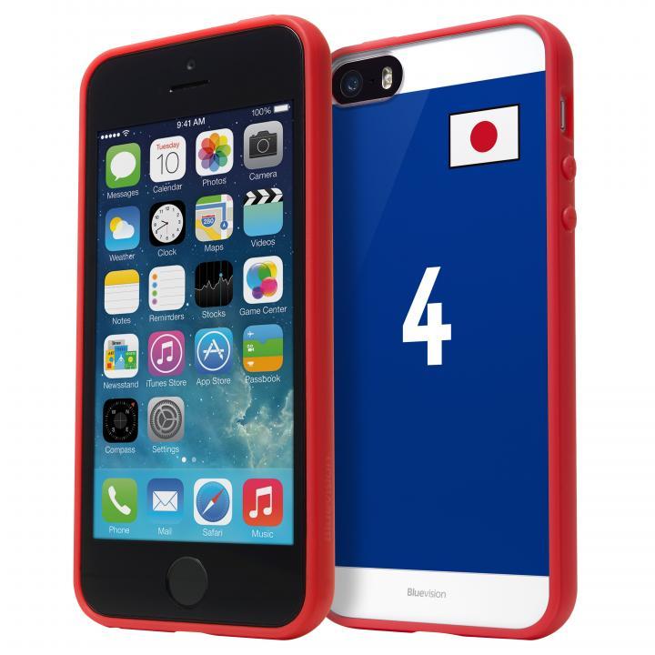 Bluevision iPhone 5s/5 ワールドカップエディション バンパーレッド