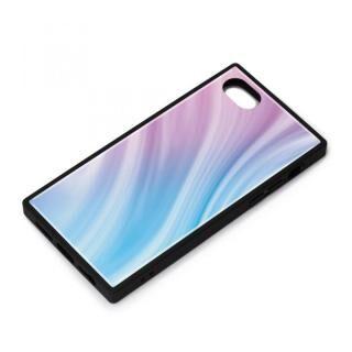 iPhone SE 第2世代 ケース ガラスハイブリッドケース パープル iPhone SE 第2世代