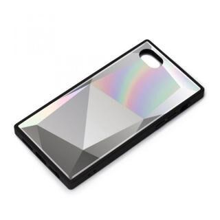 iPhone SE 第2世代 ケース ガラスハイブリッドケース ダイヤ ホワイト iPhone SE 第2世代