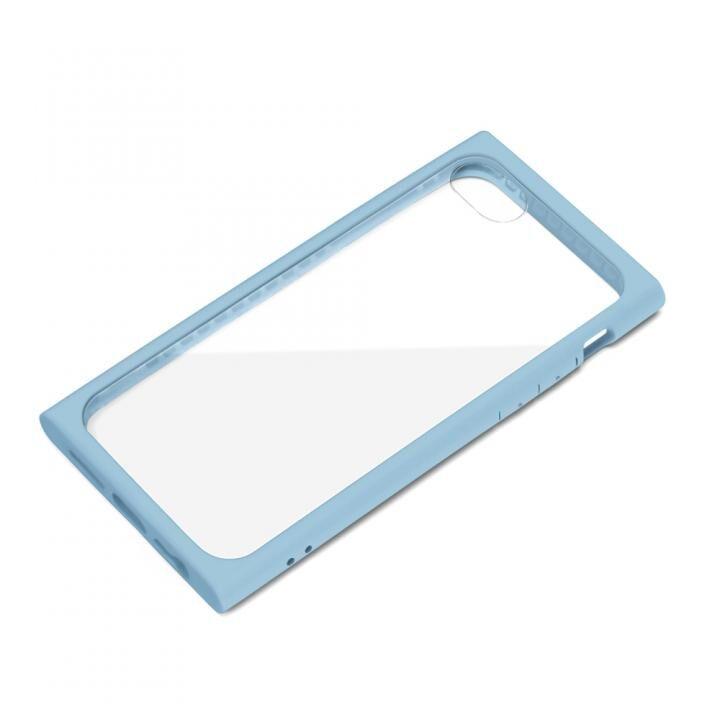 ガラスタフケース ブルー iPhone SE 第2世代_0