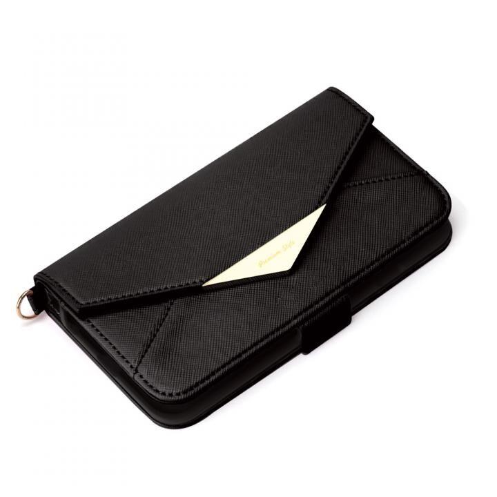 ダブルフリップカバー レター型 ブラック iPhone SE 第2世代_0