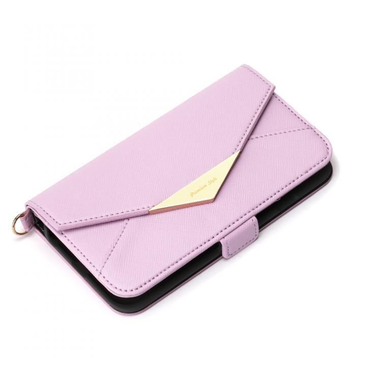 ダブルフリップカバー レター型 パープル iPhone SE 第2世代_0