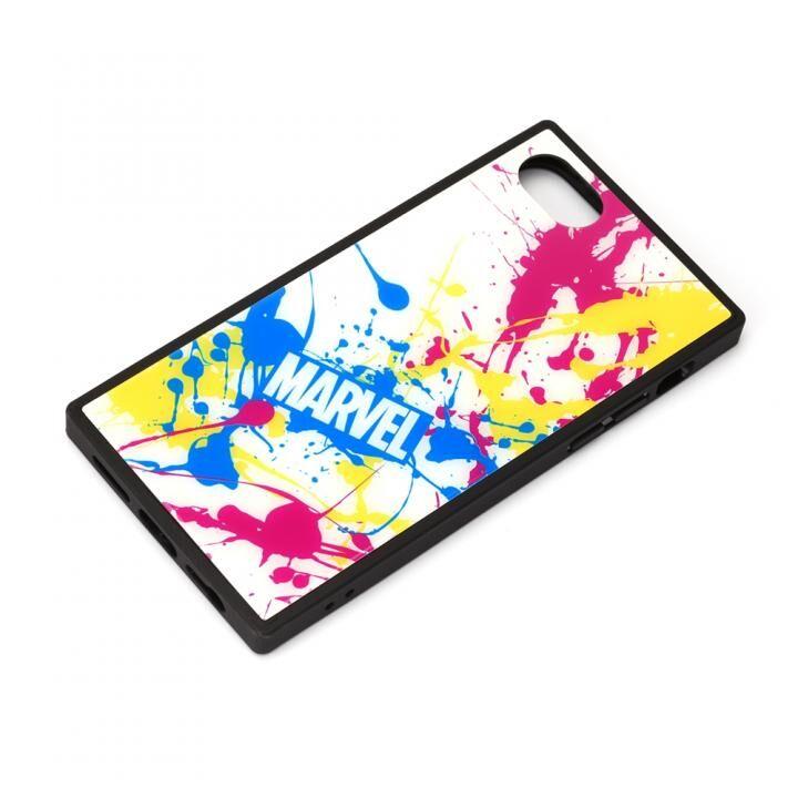ガラスハイブリッドケース スプラッシュロゴ/ホワイト iPhone SE 第2世代_0
