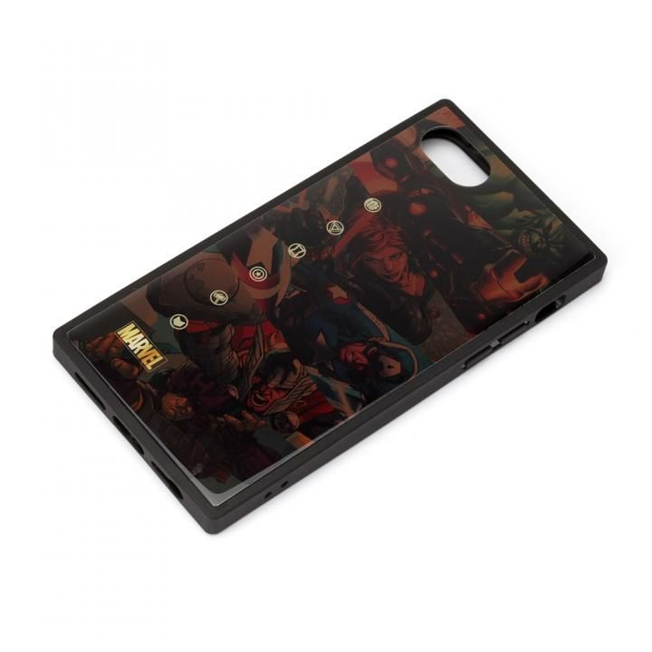 ガラスハイブリッドケース アベンジャーズ/ブラウン iPhone SE 第2世代_0