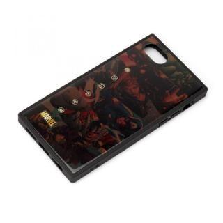iPhone SE 第2世代 ケース ガラスハイブリッドケース アベンジャーズ/ブラウン iPhone SE 第2世代