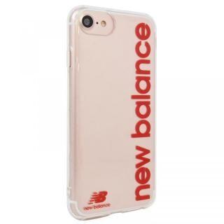 iPhone SE 第2世代 ケース New Balance TPUクリアケース 縦ロゴ レッド iPhone SE 第2世代