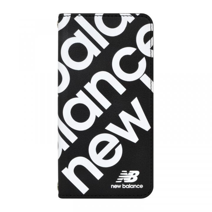 New Balance スリム手帳ケース スタンプロゴ ブラック iPhone SE 第2世代_0