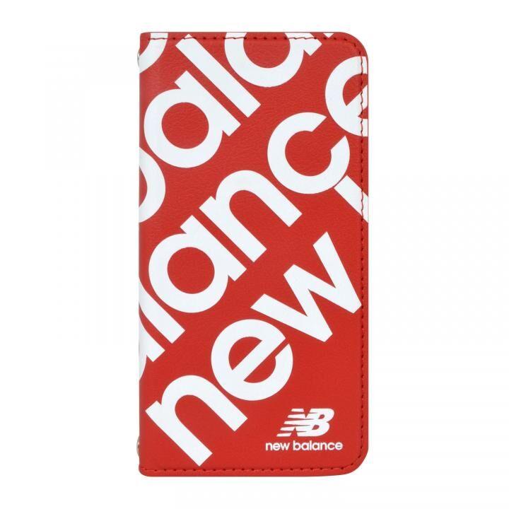 New Balance スリム手帳ケース スタンプロゴ レッド iPhone SE 第2世代_0