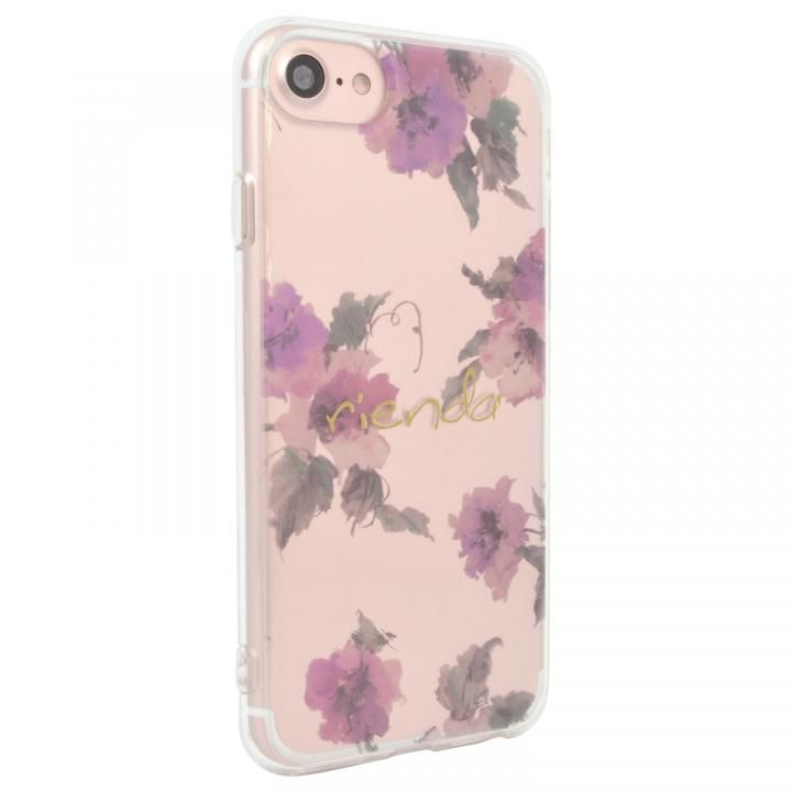 rienda TPUクリアインモールドケース Parm Flower iPhone SE 第2世代_0
