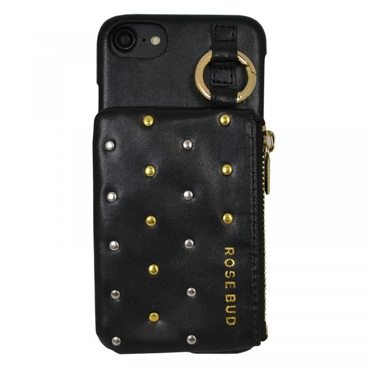 ROSEBUD コインケース付き背面ケース ブラック iPhone SE 第2世代_0