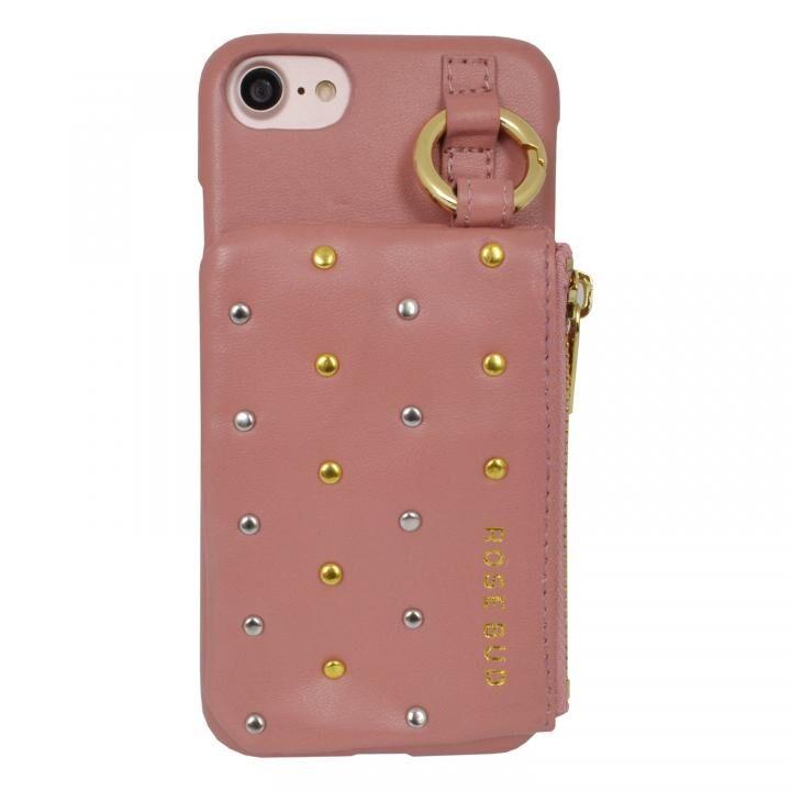 ROSEBUD コインケース付き背面ケース ピンク iPhone SE 第2世代_0