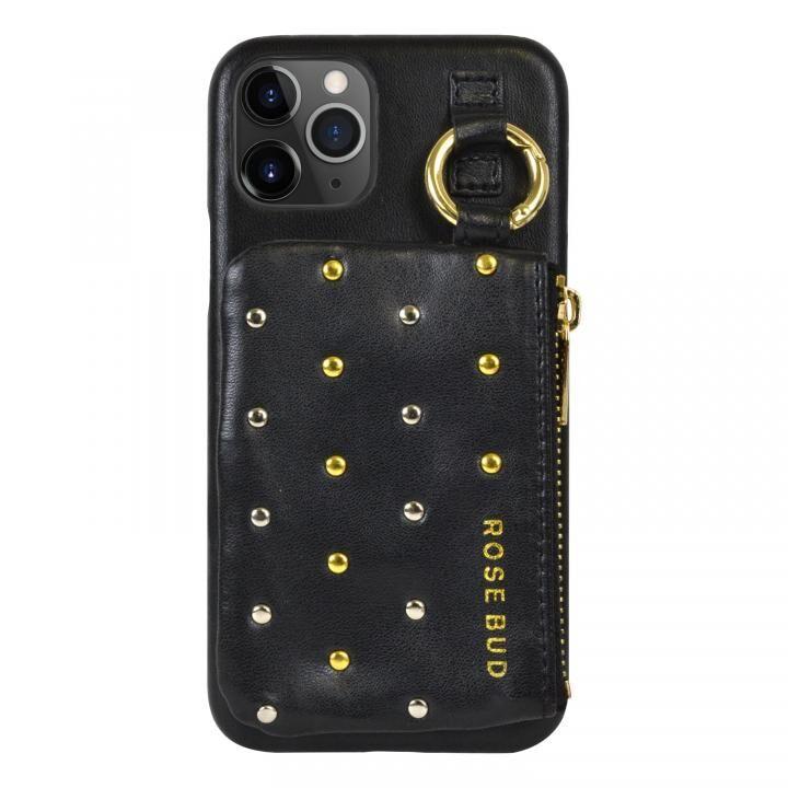 iPhone 11 Pro ケース ROSEBUD コインケース付き背面ケース ブラック iPhone 11 Pro【11月上旬】_0
