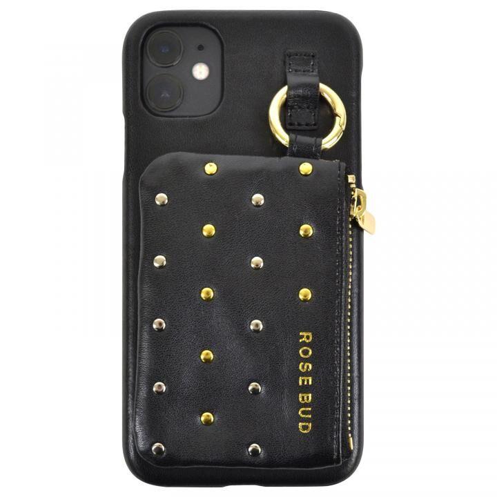 iPhone 11 ケース ROSEBUD コインケース付き背面ケース ブラック iPhone 11_0