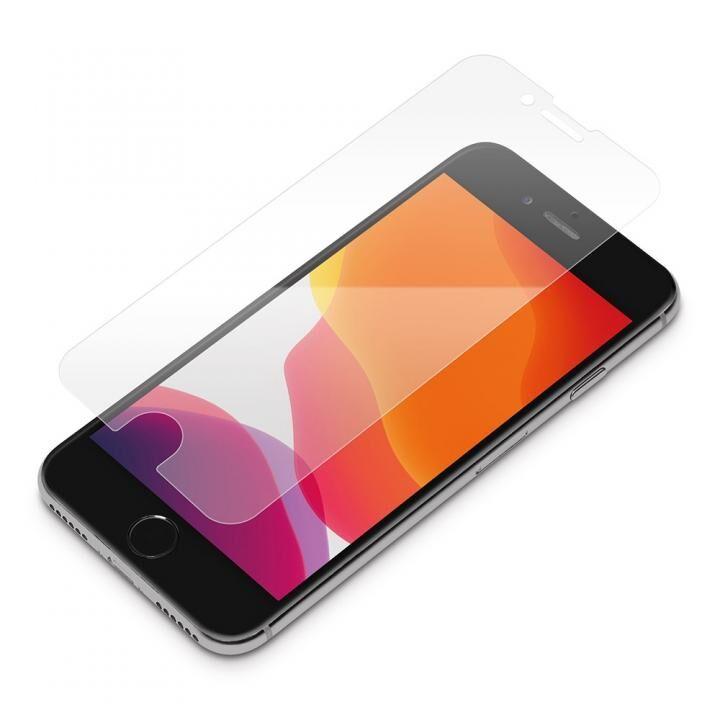 貼り付けキット付き 液晶保護フィルム 衝撃吸収EX/光沢 iPhone SE 第2世代_0