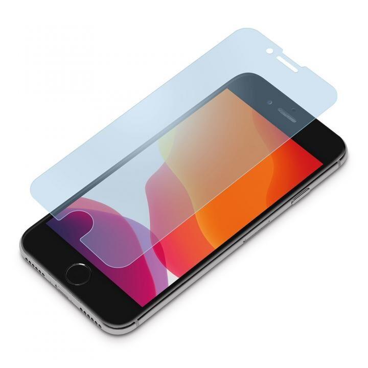 貼り付けキット付き 液晶保護ガラス ブルーライト低減/アンチグレア iPhone SE 第2世代_0