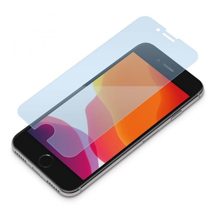 貼り付けキット付き 液晶保護ガラス ブルーライト低減/光沢 iPhone SE 第2世代_0