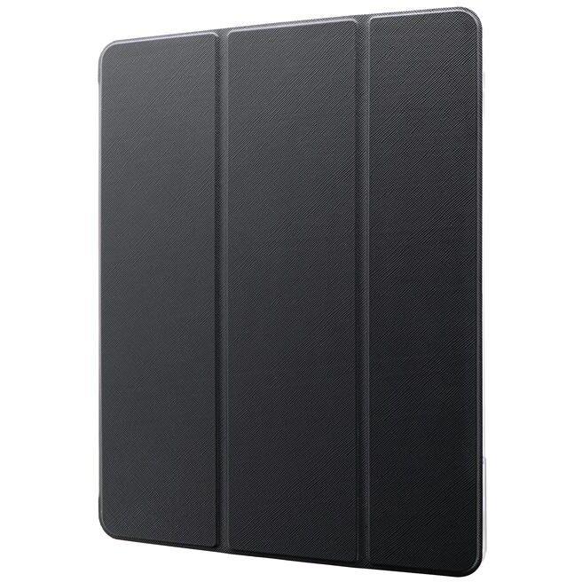 背面クリアフラップケース「Clear Note」 ブラック iPad Pro 2020 12.9インチ_0