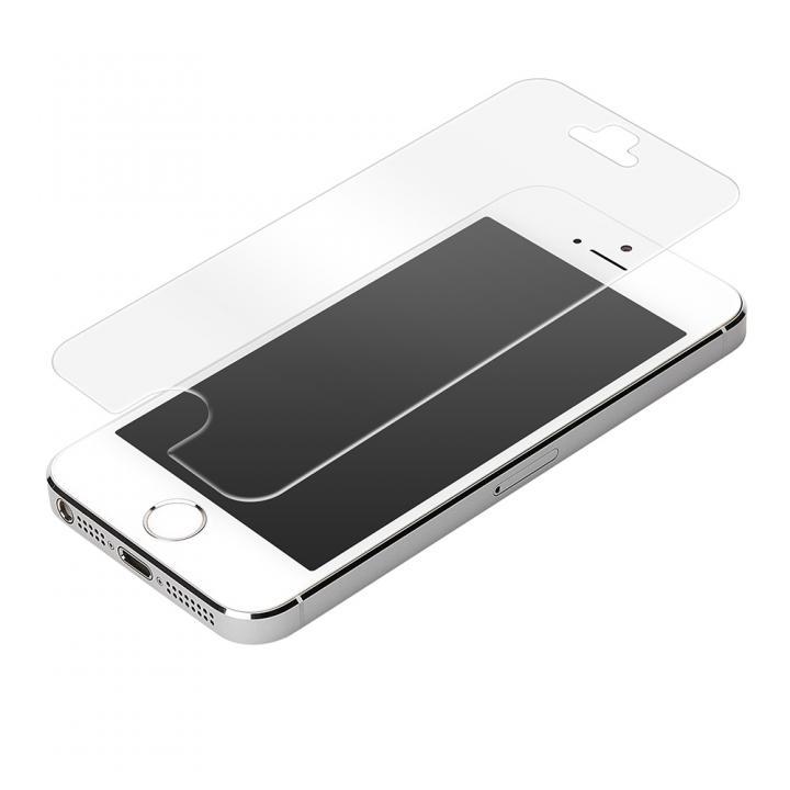 iPhone SE/5s/5 フィルム [0.31mm]液晶保護アクリル強化ガラス 8H 光沢防指紋 iPhone SE/5s/5c/5_0