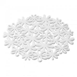 ナベ敷き フラワー ホワイト